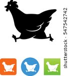 chicken crossing the road icon | Shutterstock .eps vector #547542742