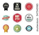 best choice guaranteed seller... | Shutterstock .eps vector #547545985