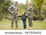 military family reunited on a