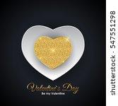valentine's day heart symbol.... | Shutterstock .eps vector #547551298