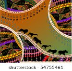 african background in the... | Shutterstock .eps vector #54755461