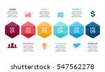 vector arrows hexagons timeline ... | Shutterstock .eps vector #547562278