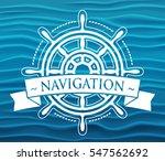 ship steering wheel corporate...   Shutterstock .eps vector #547562692