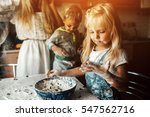 kids is playing with flour in...   Shutterstock . vector #547562716