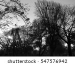 Ferris Wheel In Amusement Park...