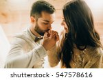 night wedding portrait  | Shutterstock . vector #547578616