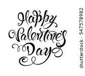 happy valentines day . vector... | Shutterstock .eps vector #547578982