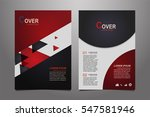 red and black vector annual... | Shutterstock .eps vector #547581946