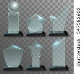 realistic glass awards | Shutterstock .eps vector #547583602