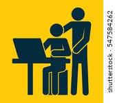 internet parenting kids guide... | Shutterstock .eps vector #547584262