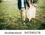 bride and groom walking on the...   Shutterstock . vector #547590178