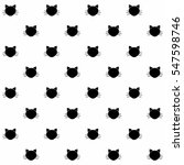 seamless pattern with cats.... | Shutterstock .eps vector #547598746