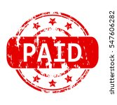 rubber stamp with the word paid ...   Shutterstock .eps vector #547606282