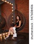 beautiful woman in luxury nest...   Shutterstock . vector #547608406