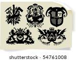 vector silhouettes  heraldic 35 ... | Shutterstock .eps vector #54761008