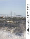 the oresund bridge and the... | Shutterstock . vector #547611952