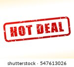 illustration of hot deal text... | Shutterstock .eps vector #547613026