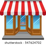 shopfront. global color used | Shutterstock .eps vector #547624702