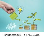 top view investment is like... | Shutterstock . vector #547633606