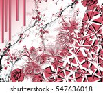 floral with geometric | Shutterstock . vector #547636018
