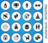 set of 16 editable infant icons.... | Shutterstock . vector #547637002