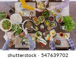 healthy and colorful diet meal... | Shutterstock . vector #547639702
