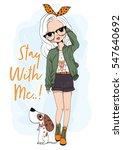 cute girl | Shutterstock .eps vector #547640692