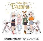 cute girl set | Shutterstock .eps vector #547640716