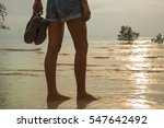 female legs in shorts on a... | Shutterstock . vector #547642492