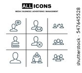 set of 9 social icons. includes ... | Shutterstock . vector #547645528