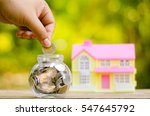 savings money coins for house... | Shutterstock . vector #547645792