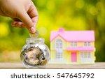 savings money coins for house... | Shutterstock . vector #547645792