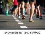 marathon running race  people... | Shutterstock . vector #547649902