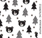 childish pattern with teddy... | Shutterstock .eps vector #547658512