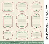 vector set of vintage christmas ... | Shutterstock .eps vector #547660795