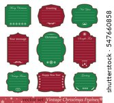 vector set of vintage christmas ... | Shutterstock .eps vector #547660858