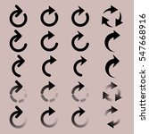 set of  rounded arrow simple... | Shutterstock .eps vector #547668916