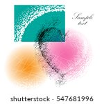 colorful abstract vector... | Shutterstock .eps vector #547681996