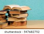open book  stack of hardback...   Shutterstock . vector #547682752