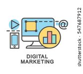 digital marketing icons. the... | Shutterstock .eps vector #547687912