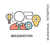 imagination icons. the thin... | Shutterstock .eps vector #547687915