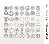 a set of circular floral... | Shutterstock .eps vector #547700176