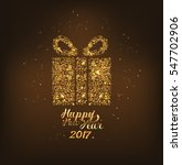 happy new year background with ... | Shutterstock .eps vector #547702906