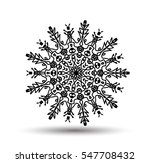 vector mandala for coloring... | Shutterstock .eps vector #547708432