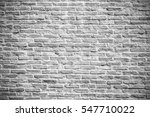White Misty Brick Wall For...