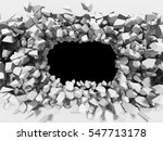 abstract cracked wall with... | Shutterstock . vector #547713178