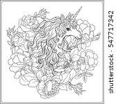 unicorn. the composition... | Shutterstock .eps vector #547717342