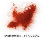 pile of red paprika powder... | Shutterstock . vector #547723642