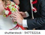 wedding bouquets  close up. | Shutterstock . vector #547732216
