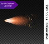 a bright comet with large dust... | Shutterstock .eps vector #547734856